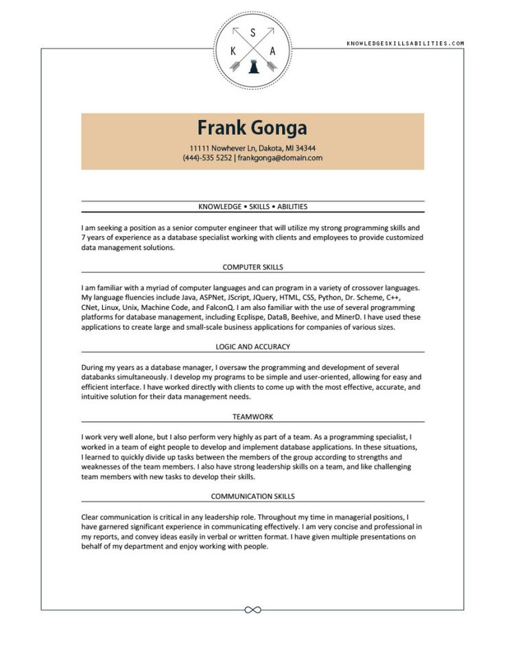 Ksa Resume Examples. 48 Best Resume Images On Pinterest Career