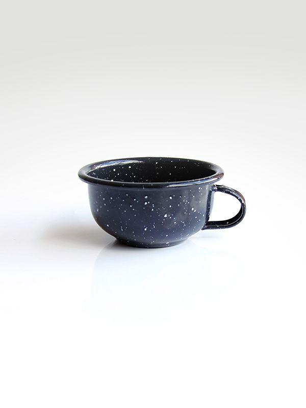 Mug moteado #enamelware #peltre #mug #black #space #design #tea #coffee #colombia #criolla