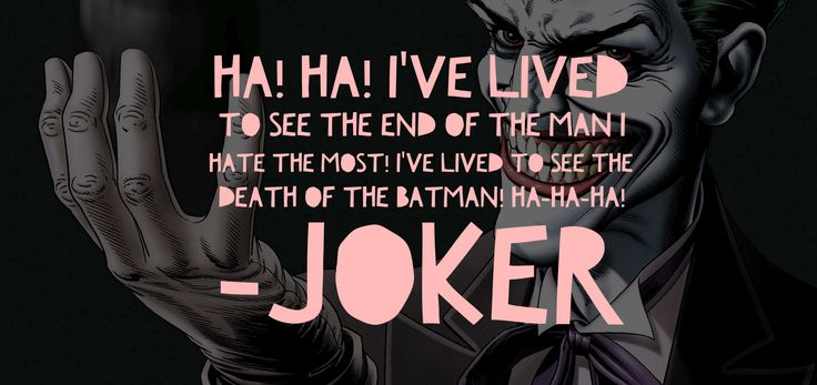 Joker DC Quote