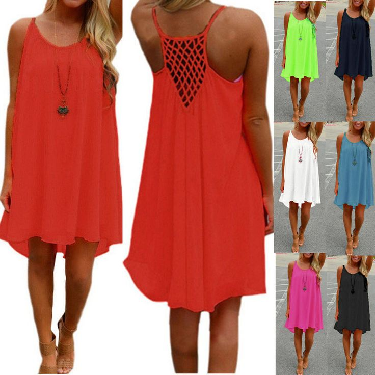 Now available on our store. 2017 Brand New Su...  http://designsbyzuedi.myshopify.com/products/2017-brand-new-summer-dress-spaghetti-strap-hollow-out-sexy-chiffon-beach-mini-dresses-see-through-sundress-vestidos-plus-size?utm_campaign=social_autopilot&utm_source=pin&utm_medium=pin