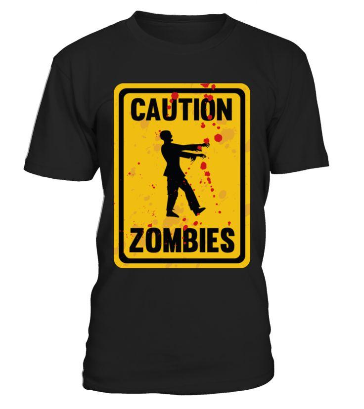 Caution Zombies T-Shirt  Funny halloween bat T-shirt, Best halloween bat T-shirt
