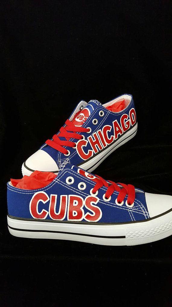 custom CHICAGO CUBS men and women baseball fans, sports fan hand painted art shoes