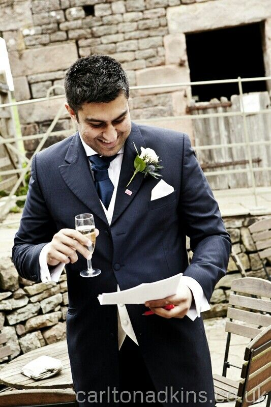 Photography of the best man at The Ashes Wedding Venue Staffordshire http://carltonadkins.co.uk