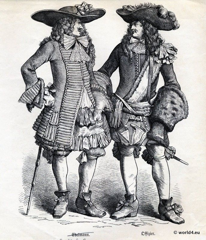 Baroque france late 17th century 1650 1699 for Baroque fashion trend