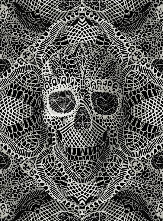 Doily skull