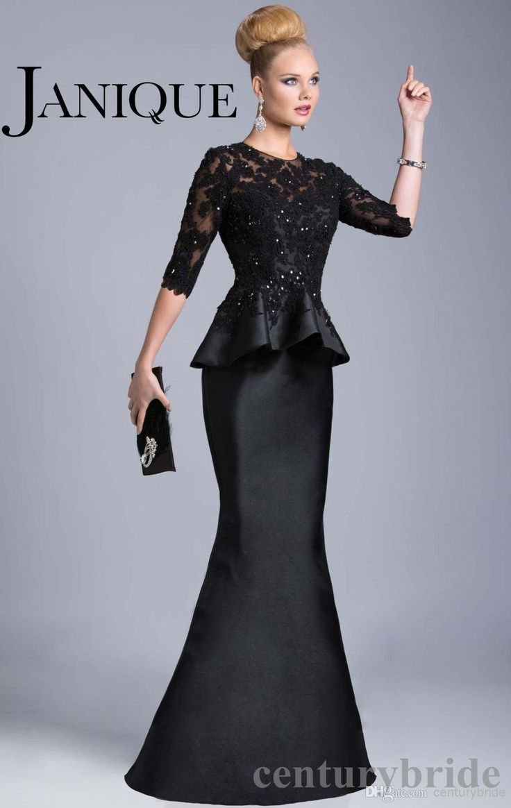 Mothers Of The Bride Dresses Plus Size 2015 Mother Dresses Elegant Mermaid Floor Length Long Sleeves Lace Sheer Black Mermaid Peplum Mother Of The Bride Dresses Gowns Beadings Petite Mother Of The Bride Dress From Centurybride, $137.3| Dhgate.Com