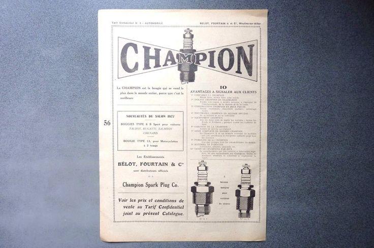 Publicité papier-LA BOUGIE GILARDONI -BOUGIES CHAMPION 1927 Réf 05 | Collections, Objets publicitaires, Publicités papier | eBay!