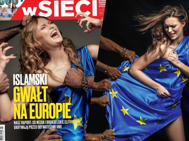 Pro-Rape liberals don't want the truth to get out, but it is. 'Islamic Rape Of Europe': Polish Magazine Splashes 'White Europa' Girl Groped By Migrant Hands.