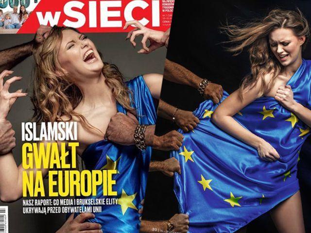 'Islamic Rape Of Europe': Polish Magazine Splashes 'White Europa' Girl Groped By Migrant Hands