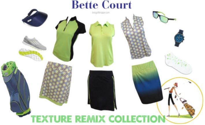 Meet our Bette and Court Ladies Golf Apparel-Texture Remix! #ootd #golfstyle #lorisgolfshoppe
