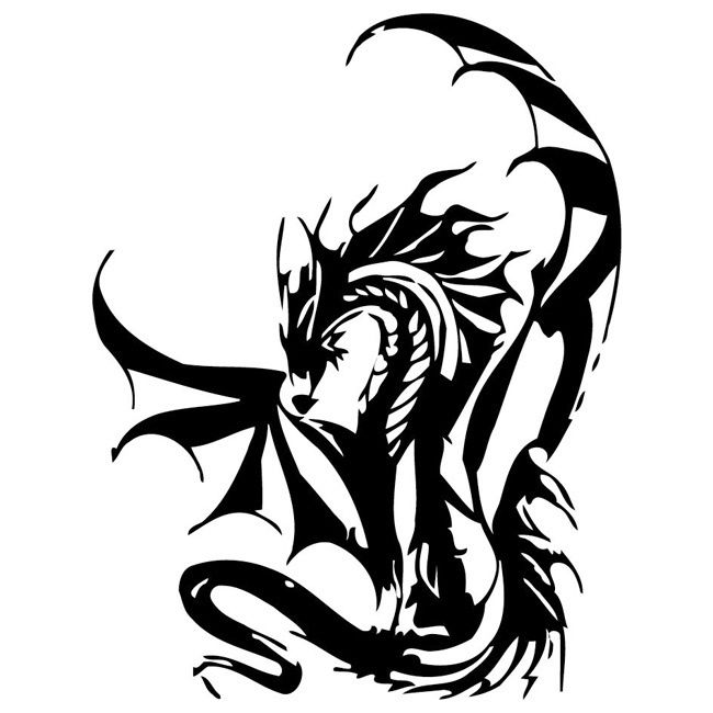 Dragon Vinyl Wall Decal 9 | Vinyls, Home and Products