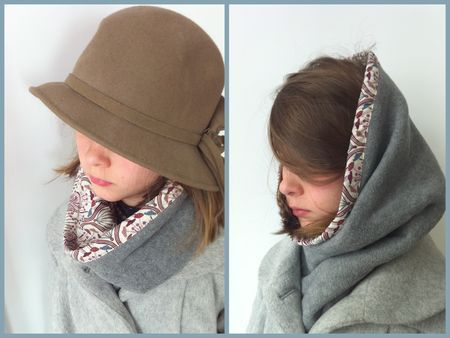 Snood polaire + Liberty (tuto)