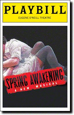 December 10, 2006: The musical SPRING AWAKENING, starring Jonathan Groff and Lea Michele, opened at the Eugene O'Neill Theatre