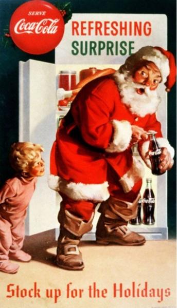Old coca cola Christmas time ad