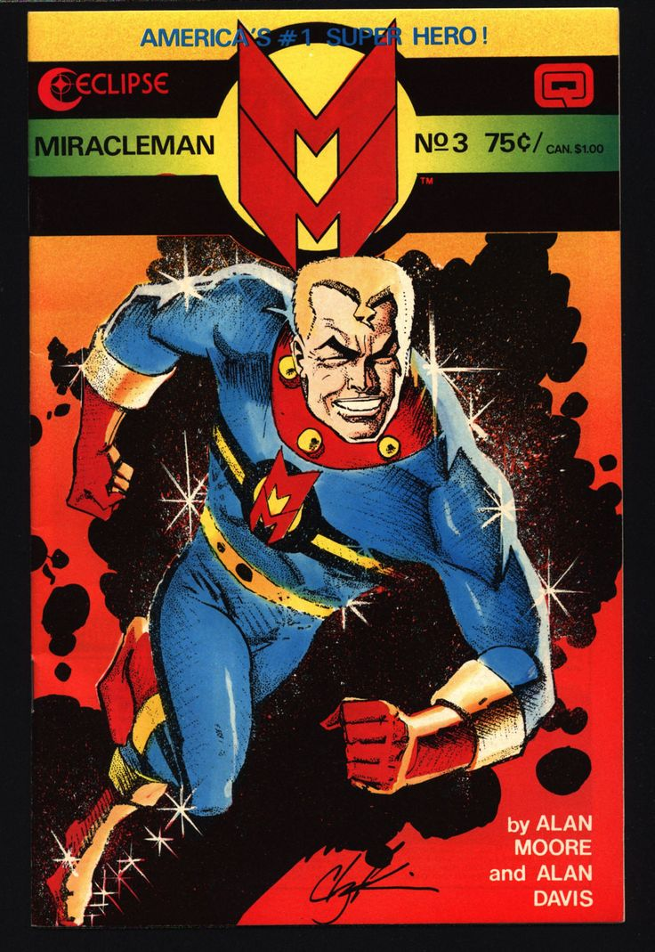 MIRACLEMAN Marvelman #3 eclipse comics 1985 ALAN MOORE Anti-Superhero Kid Family Big Ben Dr. Gargunza Alan Davis