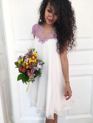 CRISTALLINI #CocktailDress #Silk #WhiteDress #GlamourDress