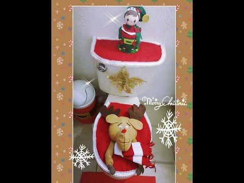 Tapetes Navideños Para el Baño en Tela Polar Motivo Santa - YouTube
