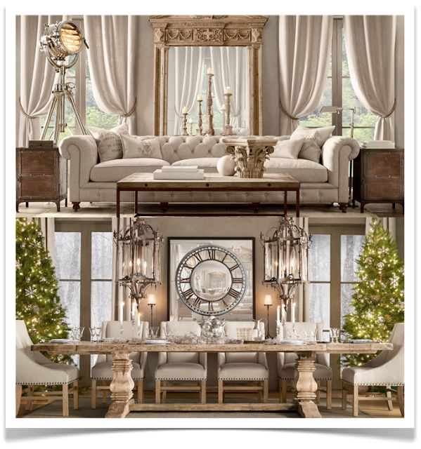 19 best furnishings images on pinterest dining room home and live - Restoration hardware entry table ...