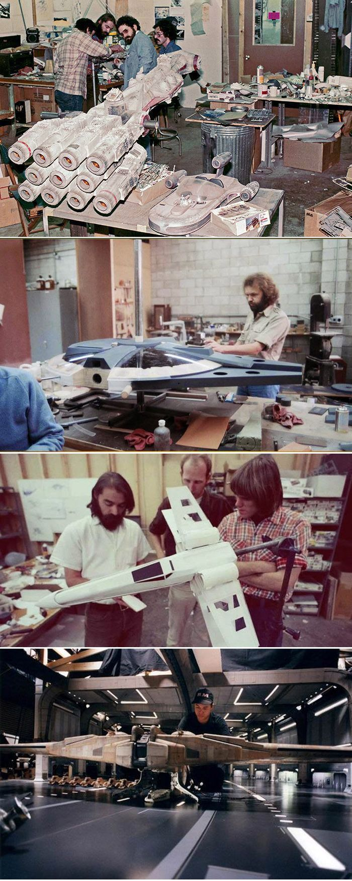 ILM model shop working on Star Wars