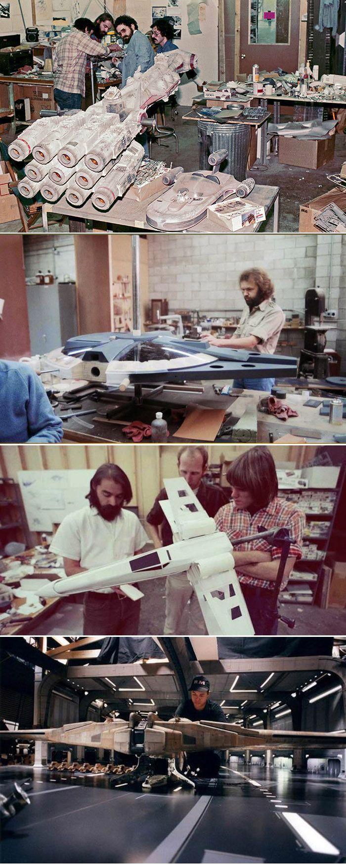 ILM model shop working on Star Wars