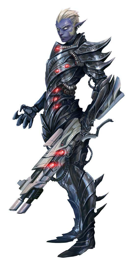 Drow Enforcer Soldier - Starfinder RPG (Alien Archive art)