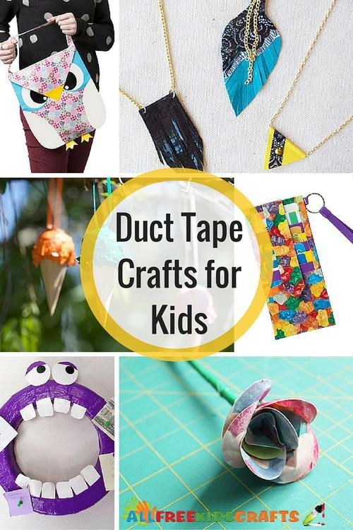 These duct tape crafts are amazing! Perfect for kids of all ages :)