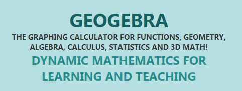 """Discover Math with GeoGebra.    """"Solve equations, graph functions, create constructions, analyse data, explore 3D math! The Graphing Calculator for Functions, Geometry, Algebra, Calculus, Statistics and 3D Math!"""""""