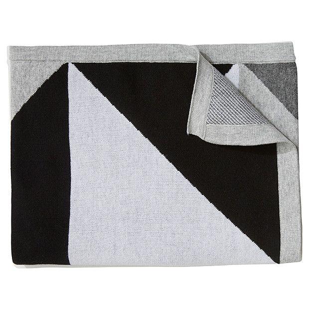 Monochrome Knit Blanket