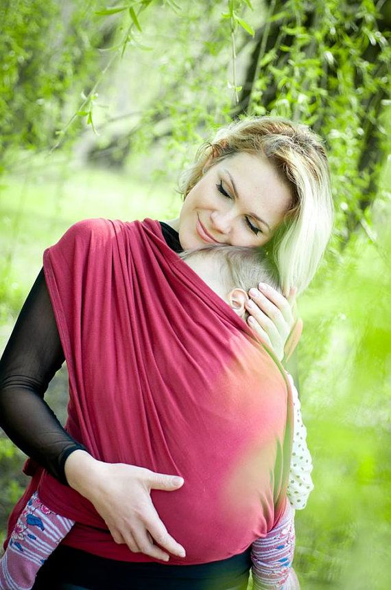 Sling Wrap for babies/Cherry Cotton/ by Bagy collection by bybagy