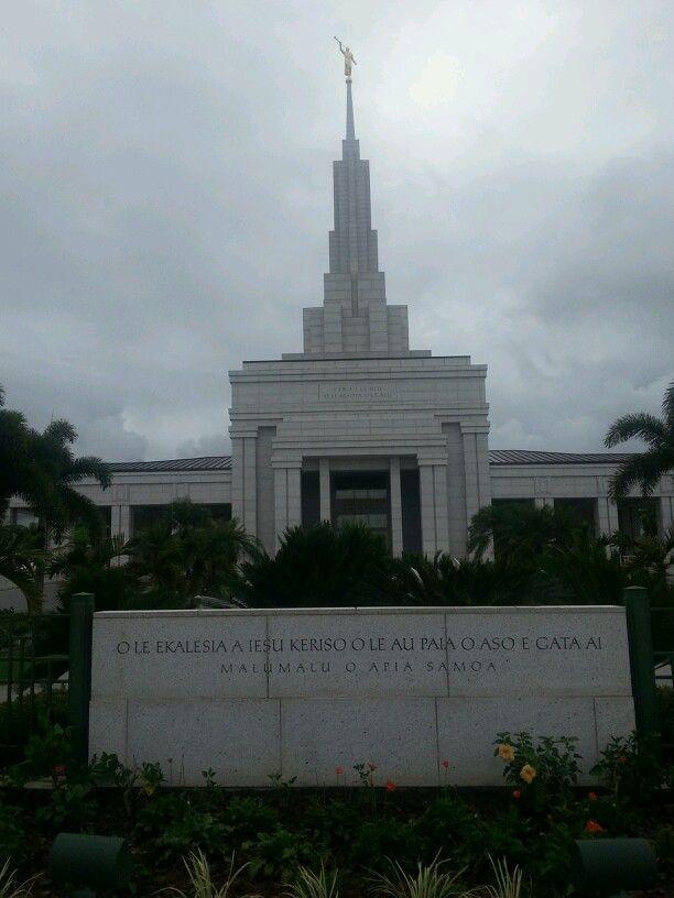On of many beautiful buildings in Apia Samoa