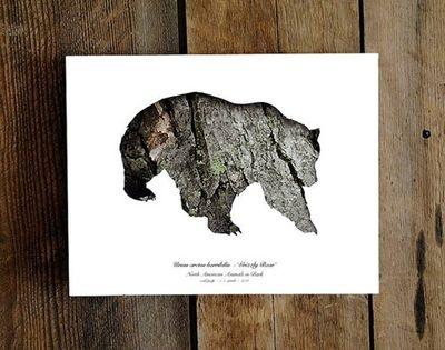wooden bear: Bark Prints, Prime Prints, Fresh Design, Fall 2015, Coffee Bags, Digital Clutter, 2015 Misc
