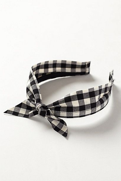Gingham Bow Headband #anthropologie