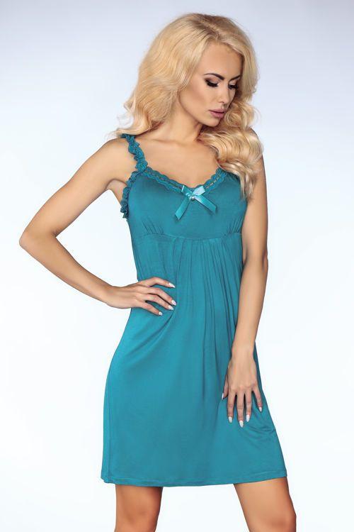 Turkusowa koszulka i stringi MELISSA / Turquoise nighties and thong MELISSA / 58 PLN / #lingerie #sexy_lingerie #nighties #thong #turquoise #turkus