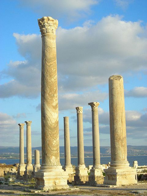 Roman ruins in the ancient Phoenician city of Tyre, Lebanon