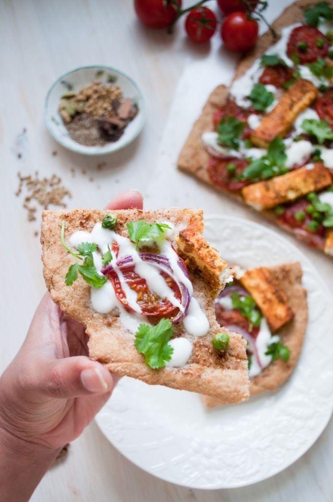 Paneer Tikka Pizza by kirantarun let's try this with tofu instead of paneer @C Misselhorn