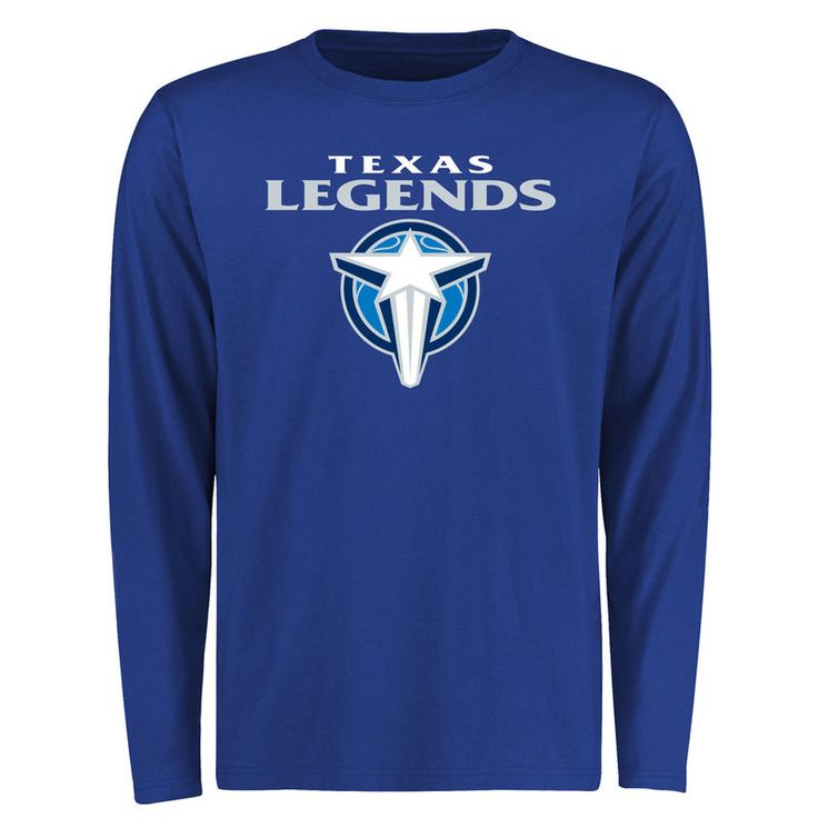 Texas Legends Primary Team Logo Long Sleeve T-Shirt - Royal