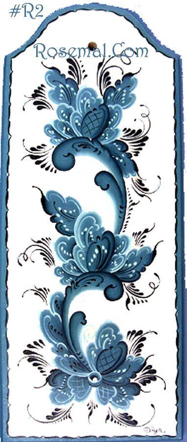 Norwegian Plaque, Rosemaed, Designed, Handpainted & Signed By Artist Joan…
