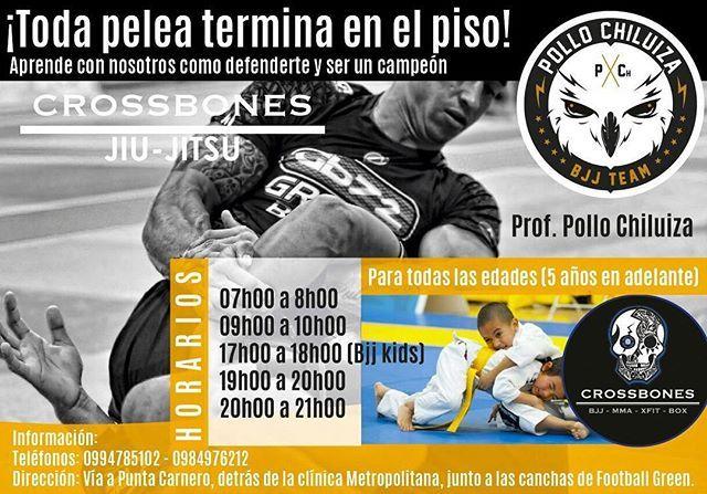 Entrena Brazilian Jiu Jitsu y defensa personal en Crossbones Center, el lugar más completo en entrenamiento deportivo y artes marciales!. ✔️Los mejores coach. ✔️El mejor complejo deportivo. ✔️Los mejores implementos. ✔️Academia con años de experiencia y títulos obtenidos a nivel nacional.  Entrena Bjj y artes marciales en Crossbones con el @pollochiluizabjjteam , aprovecha nuestras promociones!  Te esperamos 👊🏼 _____________________________________________  #box #boxeo #mma #fit #beach…