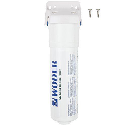 "Woder 5K-S-JG-1/4 Inline Water Filter 5000gal with 1/4"" JG Quick Connect #Woder #Inline #Water #Filter #with #Quick #Connect"
