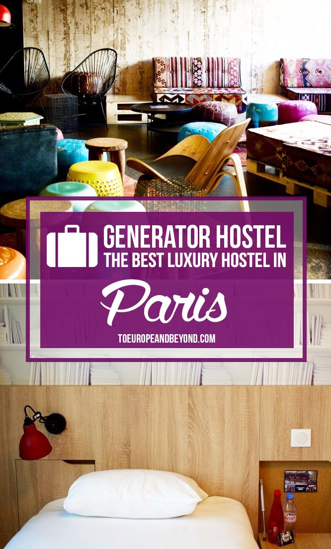Spacious private en-suite rooms, ideal location near the canal, modern amenities: Generator Hostel is the best budget-friendly option in #Paris. http://toeuropeandbeyond.com/stay-paris-generator-hostel-review/