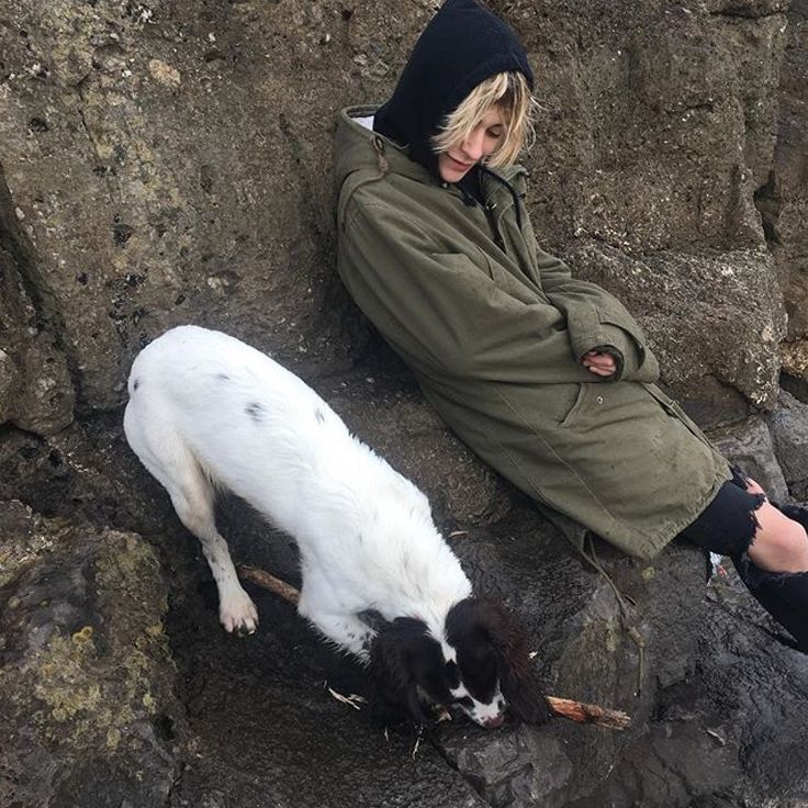 Leo with his dog, Yuki
