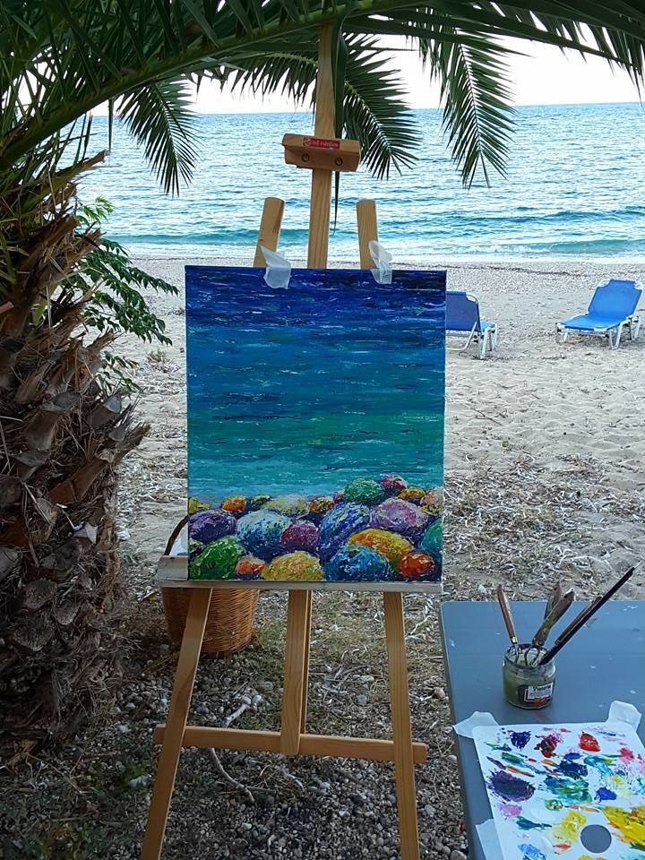 Metaxart artists are inspired from the amazing scenery of Kefalonia island.