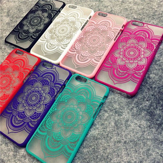 Brand New Beautiful Floral Henna Paisley Mandala Palace Flower Phone Cases Cover For iPhone 7 5 5G 5S 5C SE 6 6G 6S 6Plus