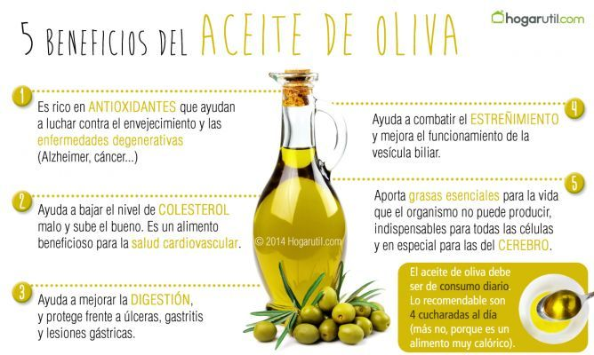 Aceite de oliva, un alimento básico en la dieta - Hogarutil