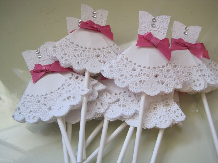 wedding dress cupcake toppers