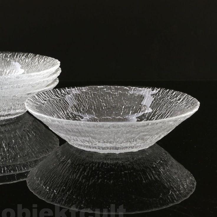 """4 IITTALA Finland Schalen Schälchen ∅18cm 'SOLARIS' salad bowls 7"""" T.WIRKKALA'68"""