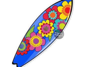 Blume Surfbrett Auto Aufkleber bunte Bumper Sticker Strand Blumen süß Auto Aufkleber Laptop Aufkleber Wand Aufkleber Hibiskus Ozean nautischen Surfer