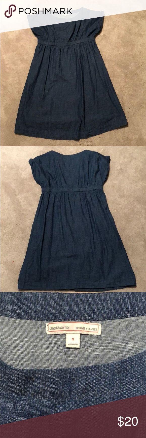 Mer enn 25 bra ideer om denim maternity dresses p pinterest gap denim maternity dress ombrellifo Image collections
