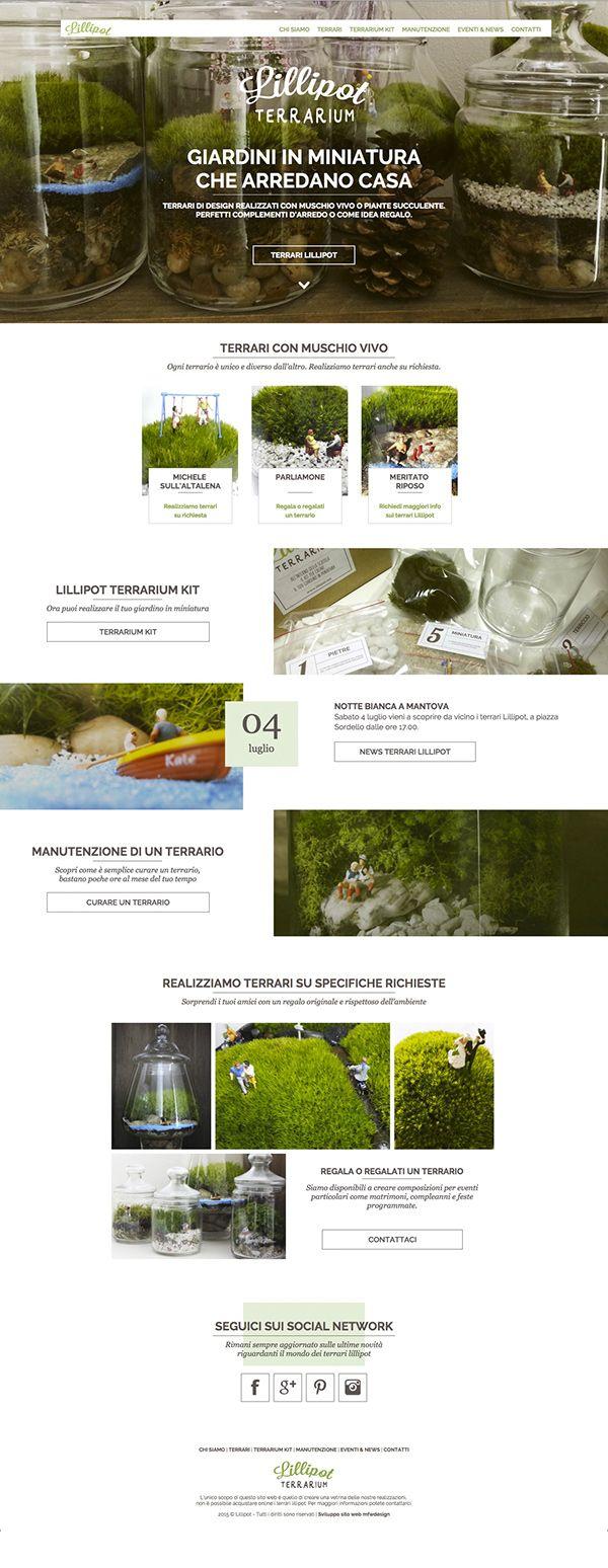Lillipot #terrarium #terrari #webdesign #brand #garden #responsivedesign