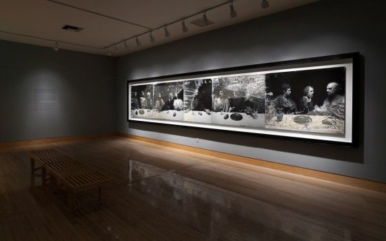 This exhibition is the first U.S. presentation of Sugimoto's The Last Supper: Acts of God (1999/2012), a five-panel photograph, more than 24 feet in length. The artist first created this work in 1999, from a life-size wax reproduction of Leonardo's The Last Supper, which he photographed at a museum in Izu, Japan. In 2012, while the …
